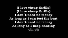 Sia - Cheap Thrills [Lyrics]
