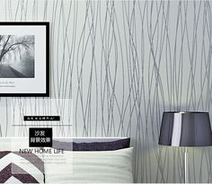 57 Sq ft 10M Roll Silver Grey Lines Stripes Embossed Textured Simple Wallpaper | eBay