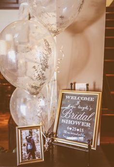 love clear balloons with glitter inside or outside!