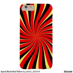 For you, for you, for all of us ... found at Zazzle.com #Spiral Black Red Yellow #Barely There #iPhone #6Plus #Case