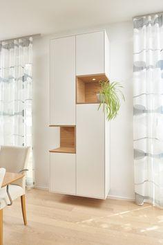 Se Wohnzimmereinrichtung Besteht Aus Frei Hängenden Wandschränken Und Einem Tv Möbel Bestehen