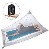 Amazon Angebote Camping Dimples Excel Camping Moskitonetz für Einzel Camping Bed, Kompakt und Leicht%#Quickberater%