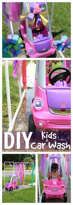 DIY Kid Car Wash, full tutorial! Great summer project (AD)