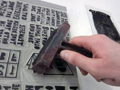 """How to: Print a """"One Sheet of Paper"""" Book By Hand   Man Made DIY   Crafts for Men   Keywords: paper, printmaking, book, how-to"""