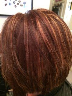 Auburn Hair With Highlights Auburn With Carmel Highlights Fall By