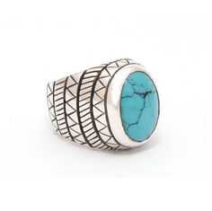 Geometric Turquoise Ring | The Wildness Jewellery | Wolf & Badger