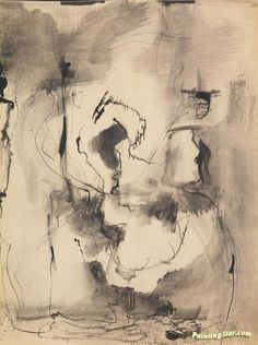 Mark Rothko, Untitled, watercolor, ink and graphite on paper 18 ¼ by 14 in. by cm. Mark Rothko Paintings, Abstract Painters, Black And White Abstract, Watercolor And Ink, Art And Architecture, Abstract Expressionism, Art Day, Canvas Art Prints, Cool Art