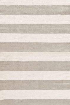 RugStudio presents Dash And Albert Catamaran Stripe Platinum/Ivory Flat-Woven Area Rug