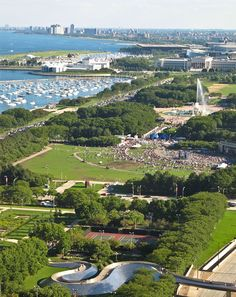View from above of Grant Park, Chicago, IL #chicago #park #relax