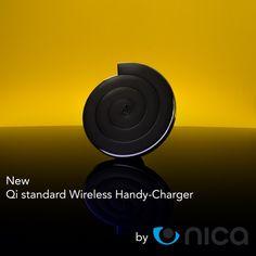 nica Wireless Charger Qi Ladegerät Induktive Lade-Station mit LED-Anzeige Charger-Pad Charging Station Ladepad Aufladegerät Induktionsladegerät für alle Qi-Fähigen Geräte z.B. Samsung, Nokia, LG, Google Nexus, iPhone
