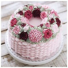 I love this pretty pink Basket Weave filled with beautiful flowers.