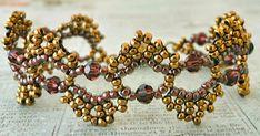 "11/0 seed beads Miyuki ""Dark Bronze"" (457D) 8/0 seed beads Miyuki ""Dark Bronze"" (457D) 11/0 seed beads Toho ""Inside-Color Montana Blu..."