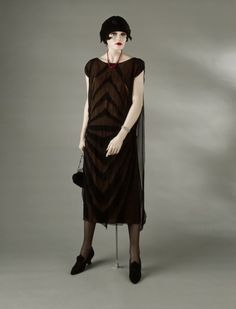 omgthatdress: Dress Madeleine Vionnet, 1925 The Los Angeles County Museum of Art Madeleine Vionnet, 1920s Fashion Women, Vintage Fashion, Edwardian Fashion, Belle Epoque, Style Année 20, Vintage Dresses, Vintage Outfits, 1920s Outfits