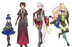 """朱里/shuri no Twitter: """"【女体化ネタ】 女士さん新しいこ追加分+らくがきまとめました。ダメそうなら速やかに逃げてくださいね。… """" . Character Creation, Character Concept, Character Art, Character Ideas, Japanese Free, Collectible Cards, Manga Drawing, Drawing Stuff, Touken Ranbu"""