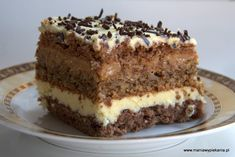 Polish Desserts, Polish Recipes, Polish Cake Recipe, Food Cakes, Chocolate Cupcakes, Cakes And More, Yummy Cakes, Cake Recipes, Food And Drink