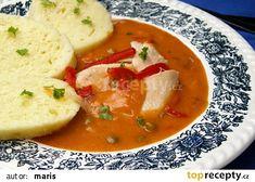 Slepice v pikantní omáčce recept - TopRecepty.cz Thai Red Curry, Treats, Ethnic Recipes, Food, Sweet Like Candy, Meal, Essen, Hoods, Meals