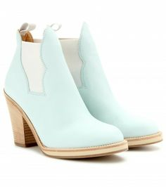 Ankle boots are a must for all seasons and Acne Studios' ultra-hip style in mint leather makes for a sweet addition to your city-chic look. Pair them with bold, edgy outfits for that hint of downtown cool.
