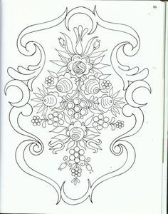 bavarian folk art coloring pages - photo#8