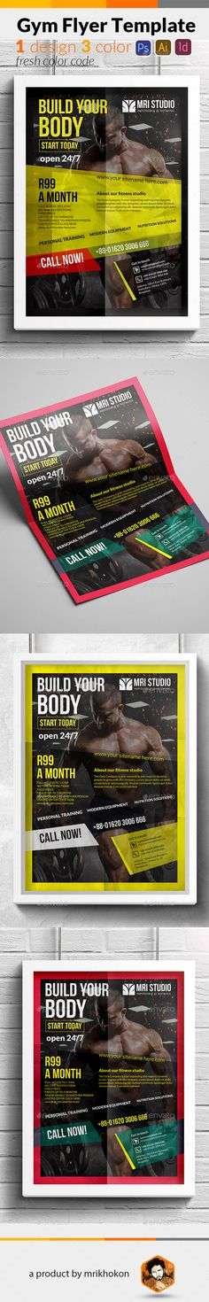 Pentagon Fitness, Boot Camp Flyers on Behance Fitness flyer - Gym Brochure Templates