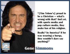 #GeneSimmons #TimTebow