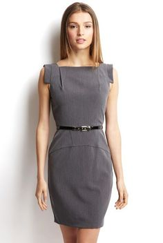 Single Dress Cap Sleeve Square Neck Dress with Belt 10