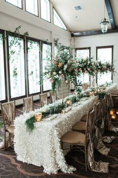 garden inspired tablescape - photo by Samantha Jay Photography http://ruffledblog.com/enchanted-garden-wedding-ideas