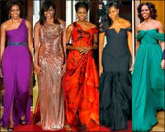 Michelle Obama, First Lady Portraits, American First Ladies, Golden Dress, Ladylike Style, Oscar Dresses, High Fashion, Womens Fashion, Carolina Herrera
