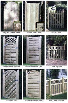 garden gates and fences | ... gates feather edge gates pickett gates decorative gates iron gates
