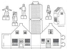 Een (nummer 3) huisje om te kleuren en een dorpje te maken!