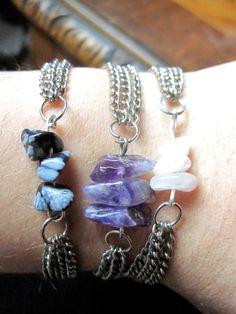 El arte de las cosas nimias: DIY: Hay tus propias pulseras de piedras para este verano