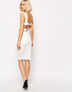ASOS Bodycon Midi Dress with Harness Strap Detail - OMG I WANT THIS!!!!
