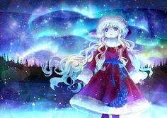 Christmas Anime Girl Stars Merry Pictures Manga Desktop Backgrounds