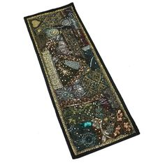 "30X10"" Indian Cotton Antique Blend Home Decor Patchwork Runner Kundan Tapestry  #Unbranded #AntiqueStyle"