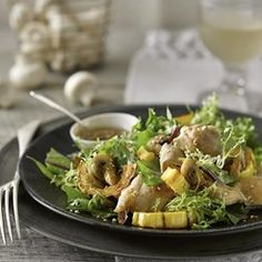 Mushroom, Squash & Chicken Salad with Sesame Dressing - EatingWell.com
