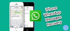 This tutorial provides you ways to recover deleted iPhone WhatsApp messages on laptop.
