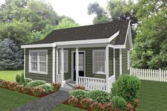 Small Cottage House Plans, Small Cottage Homes, Small House Floor Plans, Backyard Cottage, Best House Plans, Guest Cottage Plans, Tiny Homes, Small Cottages, Backyard Guest Houses