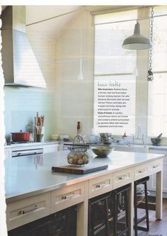Love the mix of old and new in this kitchen