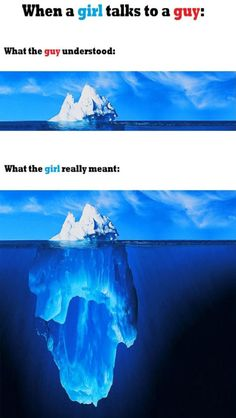 When a girl talks to a guy..