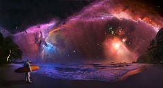 This is why photoshop was invented. #space #nebula #stars #astronomy #surfing