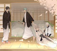こまこ(@comaco227r)さん   Twitter I Love Anime, Awesome Anime, Yukata, Touken Ranbu Characters, Japanese Pearls, Japanese Games, Purple Art, Meme Comics, Story Characters