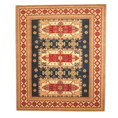 @Overstock - Herat Oriental Indo Hand-knotted Kazak Blue/ Ivory Wool Rug (8' x 10') - With a distinctive style, a gorgeous area rug from India will add some splendor to any decor. This Kazak area rug is hand-knotted with a geometric pattern in shades of blue, ivory, green, red, salmon, light blue, and tan.  http://www.overstock.com/Worldstock-Fair-Trade/Herat-Oriental-Indo-Hand-knotted-Kazak-Blue-Ivory-Wool-Rug-8-x-10/9269844/product.html?CID=214117 $587.99