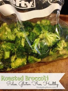 Roasted Broccoli - Gluten Free, Paleo and Delicious! The best side dish recipe ever.