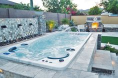 Imagine Backyard Living has established partnership with some of the most respec… - Modern Small Backyard Pools, Backyard Patio, Backyard Ideas, Backyard Designs, Small Pools, Pool Ideas, Patio Ideas, Garden Ideas, Modern Hot Tubs