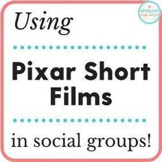 Using Pixar Shorts in Social GroupsYou can find Social thinking and more on our website.Using Pixar Shorts in Social Groups Social Skills Autism, Social Emotional Activities, Social Skills Lessons, Social Skills Activities, Teaching Social Skills, Coping Skills, Life Skills, Communication Activities, Articulation Activities