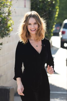 Lily James' Ombre Bedhead