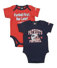 Take a look at this New England Patriots Short-Sleeve Bodysuit Set - Infant on zulily today!