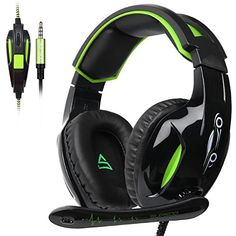 Buy SUPSOO Xbox One, Gaming Headset wired Over-ear Noise Isolating Microphone Volume Control for Xbox one PC/ Laptop / Switch Game-Black and Green Xbox 360, Xbox One Controller, Playstation, Ps4 Gaming Headset, Ps4 Or Xbox One, Gaming Headphones, Headphones With Microphone, Pc Ps4, Headphone With Mic