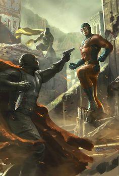 The final arc! Captain Midnight is on the hunt in Arcadia, but vigilante hero X doesn't tolerate trespassers in his city. Marvel E Dc, Marvel Heroes, Captain America Poster, Videogames, Darkhorse Comics, Geof Darrow, Children's Comics, Heroes Reborn, Comic Art Community
