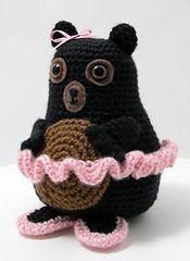 Tina Ballerina Bear   pattern by Jennifer Olivarez