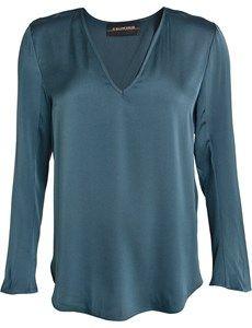Mizar silke stetch bluse med V-udskæring